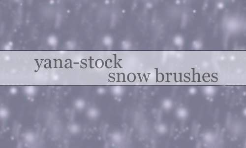 free snow  photoshop brush
