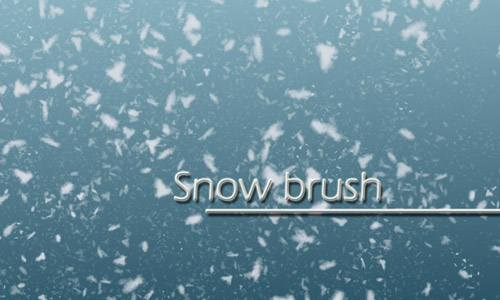 beautiful brushes snow
