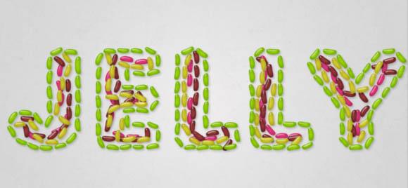PS教程!手把手教你创建美味可口的果冻豆文字效果