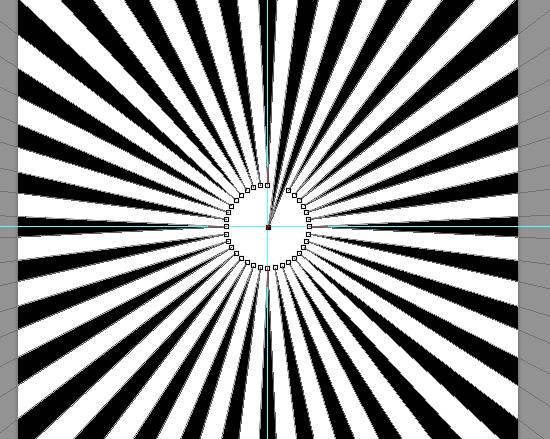 PS教程!论用一百零八种方法制作放射条纹背景