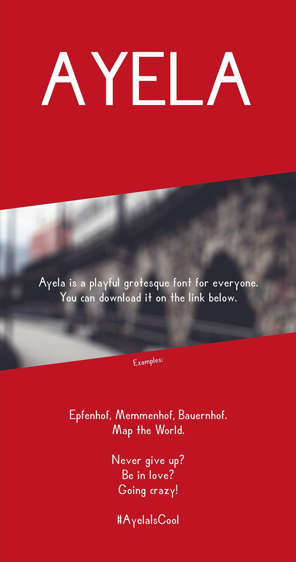 Ayela Free Font