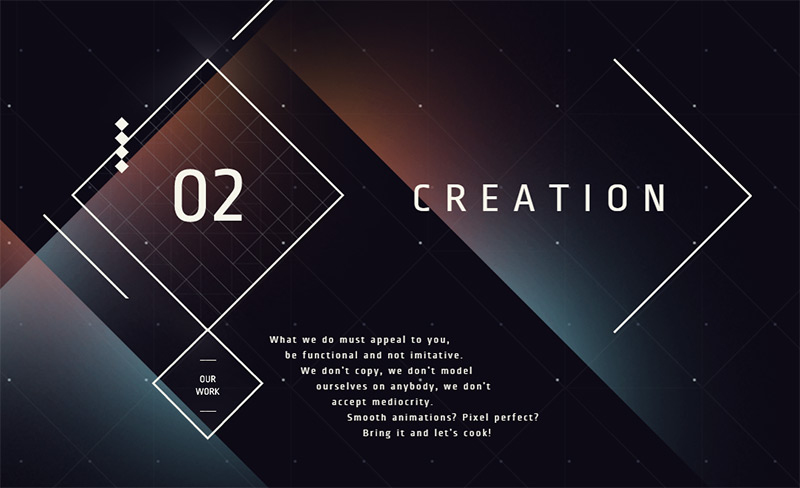 Creation in Best Creative Website Designs of 2014