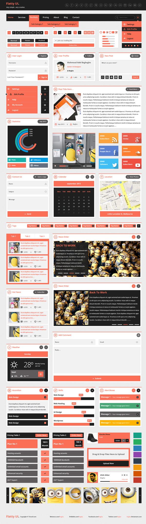 新年UI大礼包!一组高手分享的新鲜优质UI KIT免费下载