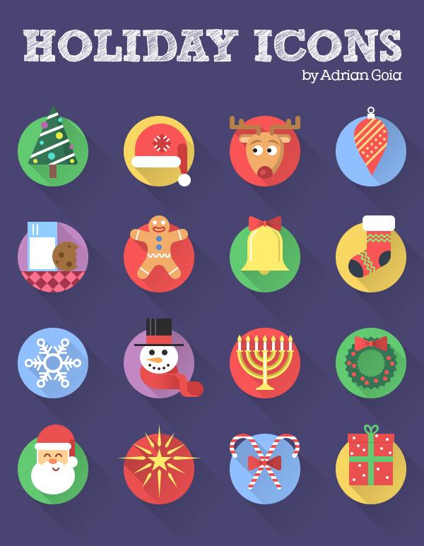 Free+Holiday+Icon+Set+Flat+Longshadown+16+Icons