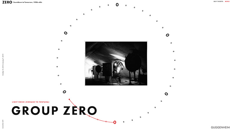 Guggenheim Zero in Best Creative Website Designs of 2014