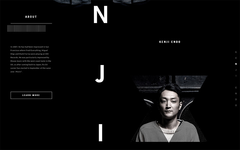 Kenji Endo in Best Creative Website Designs of 2014