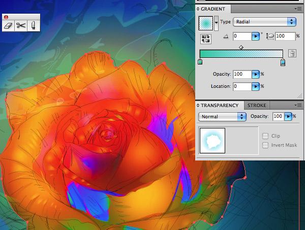 AI高级教程!教你绘制有型有色的抽象派玫瑰花