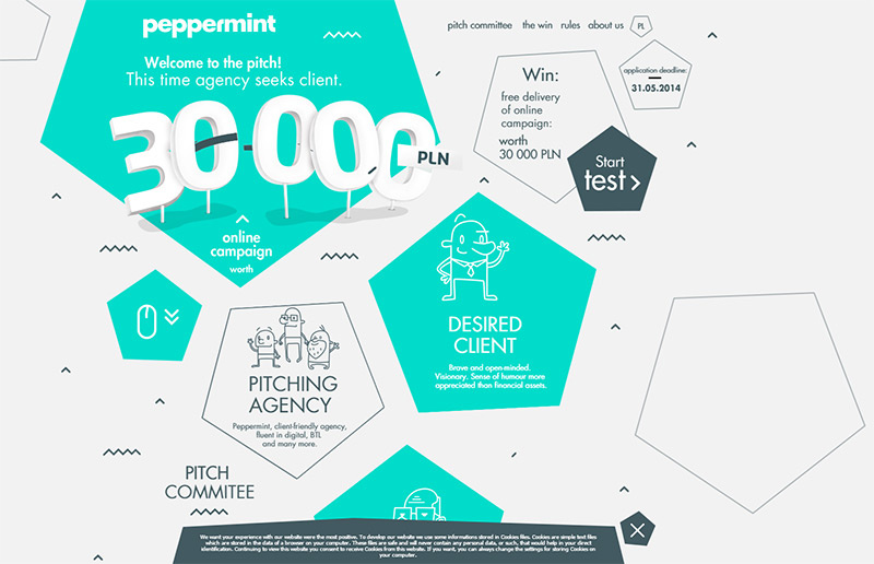 Peppermint in Best Creative Website Designs of 2014