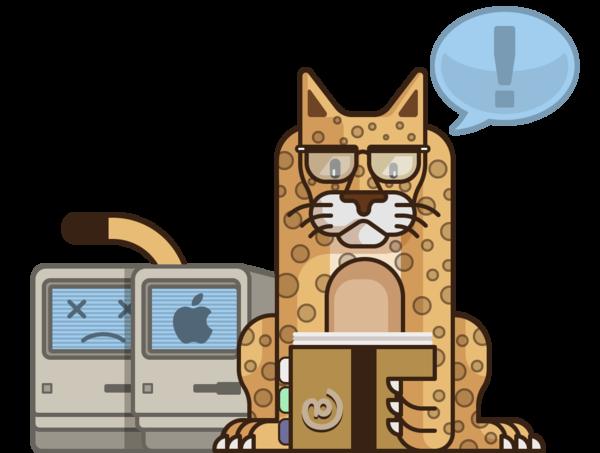 涨姿势!可爱插画帮你了解Mac OS X的变化发展史