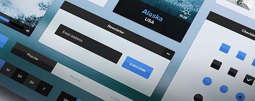新年礼包第一波!50个热门有型的移动+网站UI KIT 免费下载