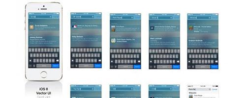 iOS 8 Vector SpotLight UI AI
