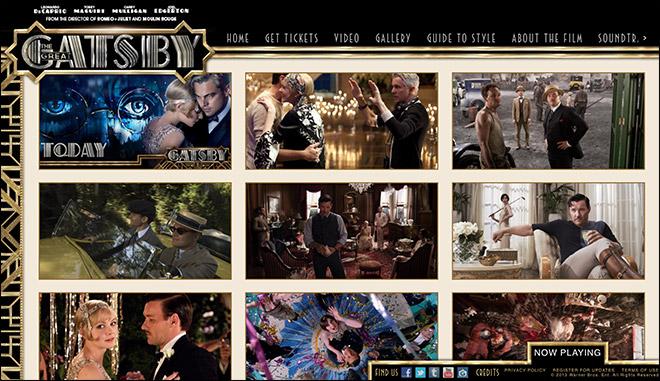 视觉盛宴!一组美不胜收的好莱坞经典电影网站设计