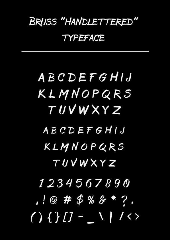 Bruss Font Letters