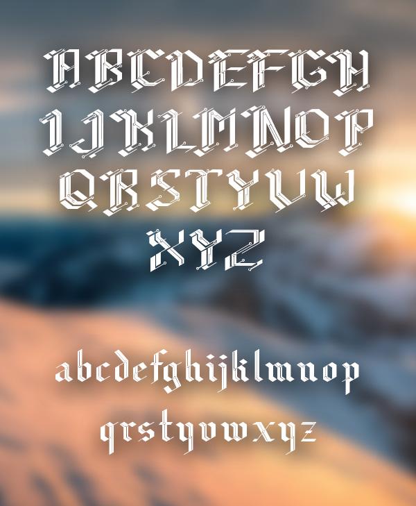 CiberGotica+Font+Letters