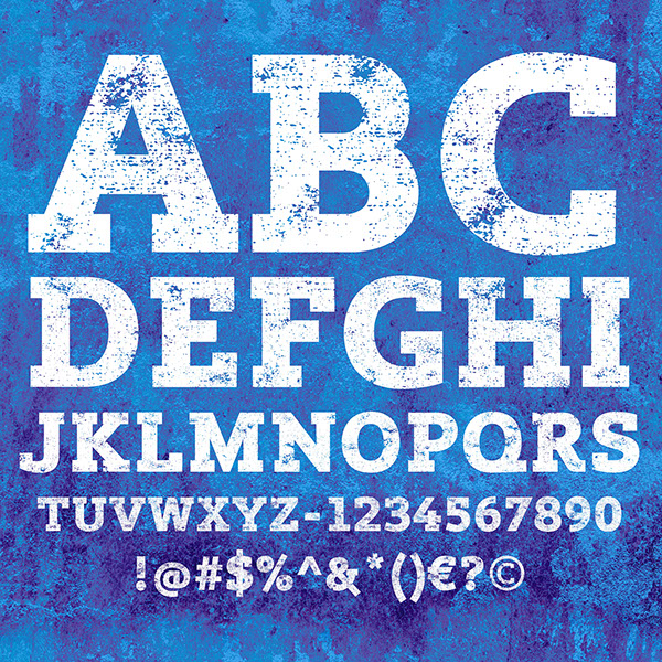 Lev Black Distressed Font Letters