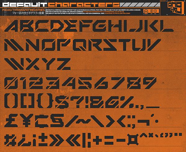 Mechsuit+Font+Letters