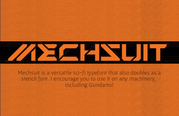 Mechsuit+Font