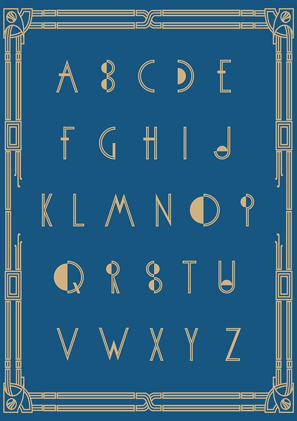Metropolis Font Letters