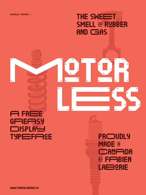 Motorless+font