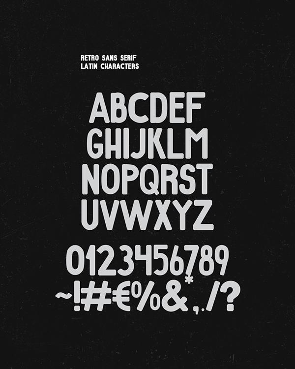 Retro+Font+Letters