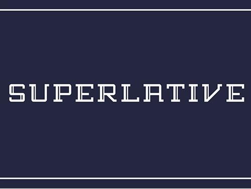 Superlative+font