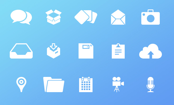 email chat icons white freebie simple