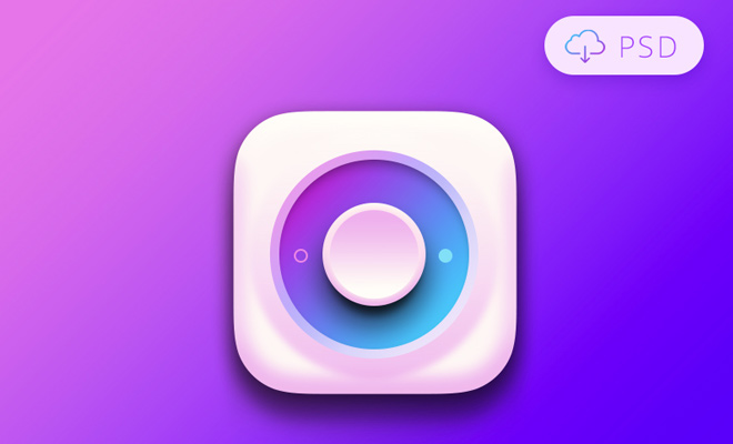 colorful purple switch psd freebie