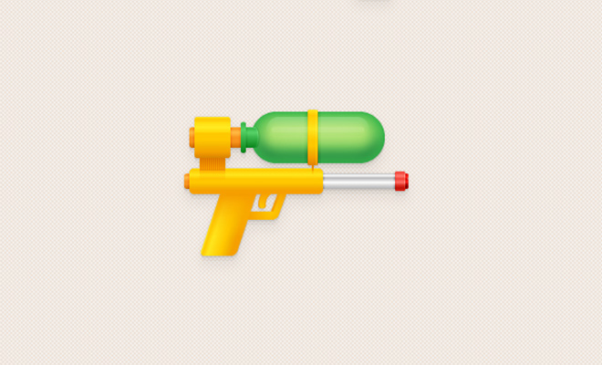 water pistol illustration tutorial