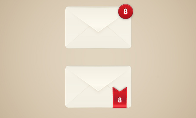 envelope mail alert icon tutorial vector