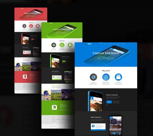 快捷建站必备!25个高质量的网站模板PSD免费下载