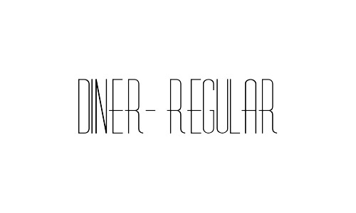 diner free thin fonts
