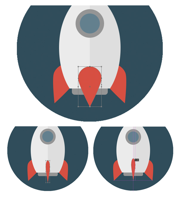 10-space-flat-icons-photoshop-rocket