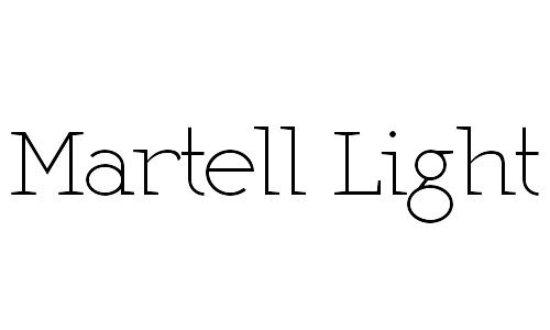 martell thin fonts free