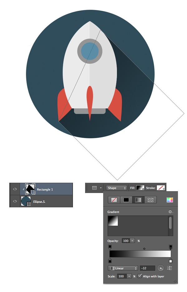 14-space-flat-icons-photoshop-rocket