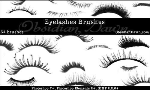eyelashes free photoshop brushes