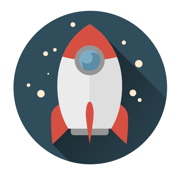 16-space-flat-icons-photoshop-rocket