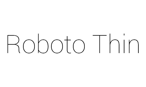 roboto free thin fonts