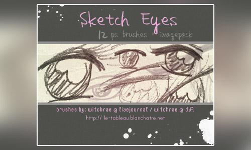 sketch eye photoshop brushes free