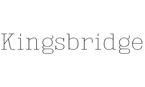 Kingsbridge free fonts thin