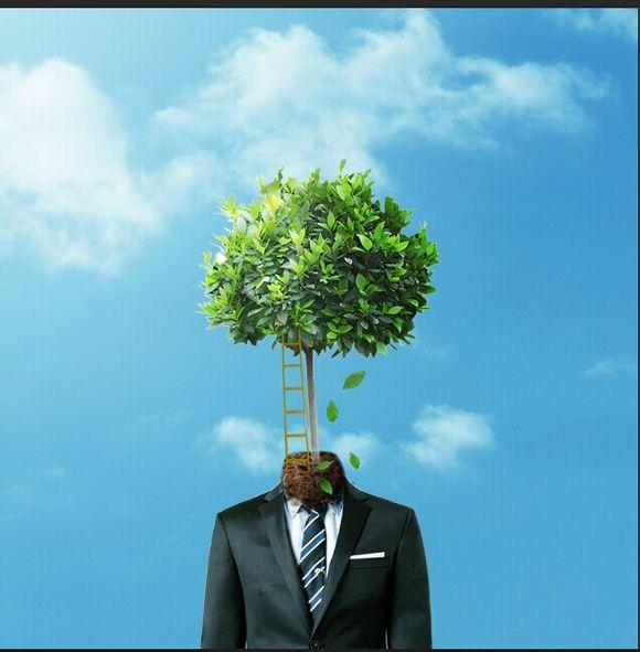 PS进阶教程!教你打造超现实主义作品:长在身上的树