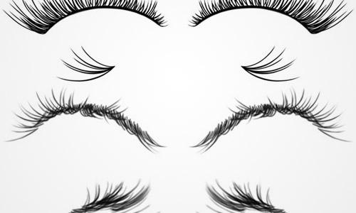 eyelashes photoshop brushes free