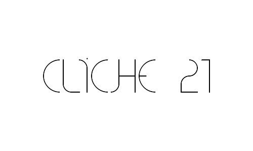 cliché 21 free thin fonts