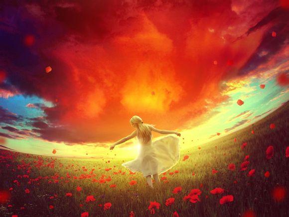 PS合成教程!手把手教你打造宏大梦幻的玫瑰女孩
