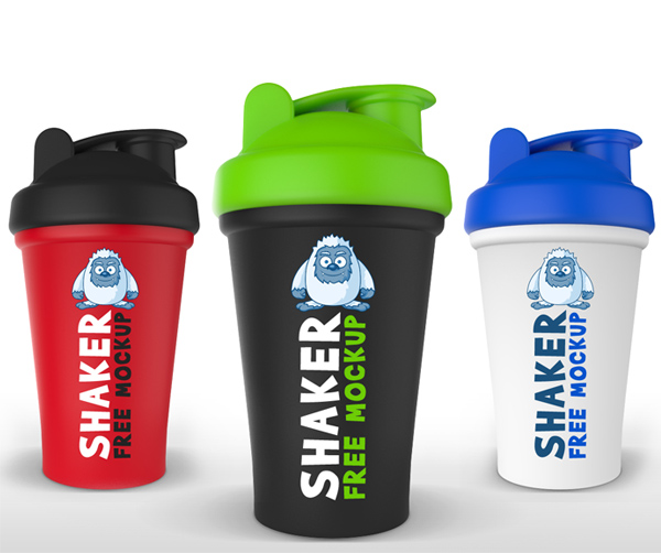 Free Protein Shaker Mockup