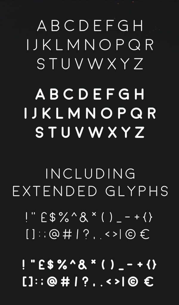 Moon Font Letters