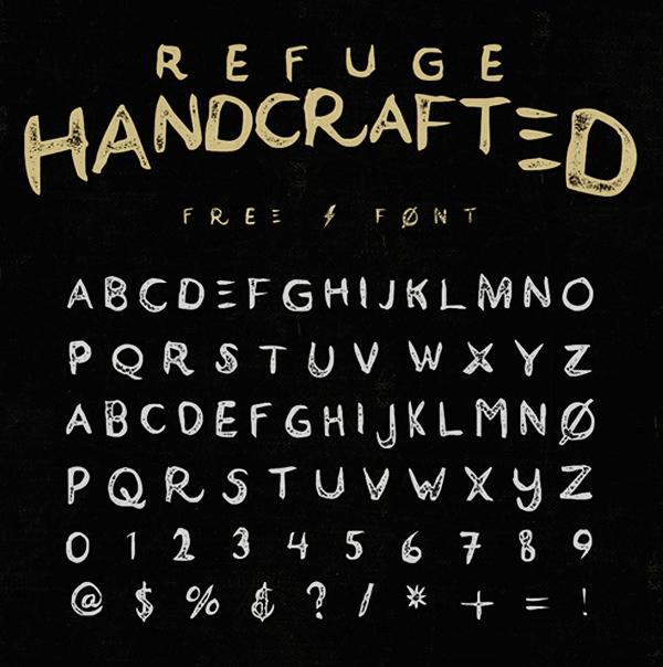 Refuge Font Letters