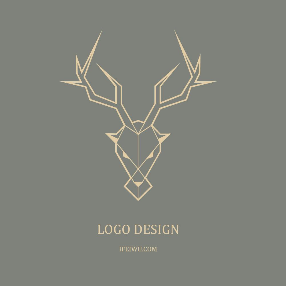 AI教程!手把手教你创建简约现代的直线鹿形LOGO