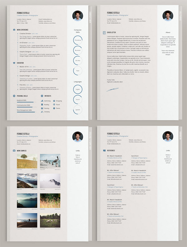 Minimal CV Template by Theme Raid