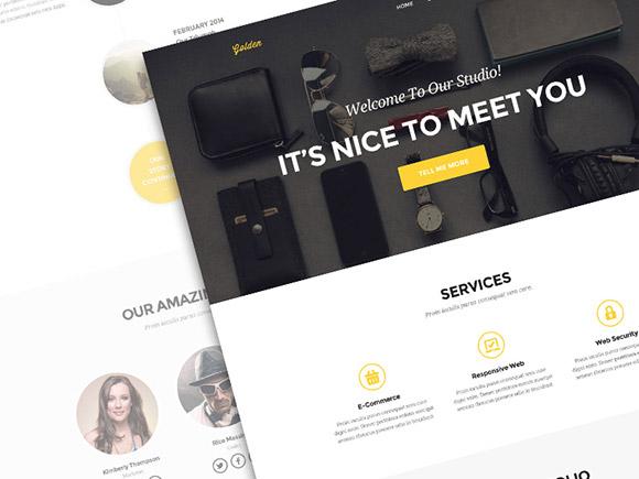 自己动手来建站!20个高质量的最新网站模板免费下载