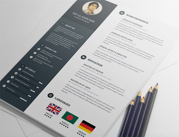Free Resume Template by Alamin Mir